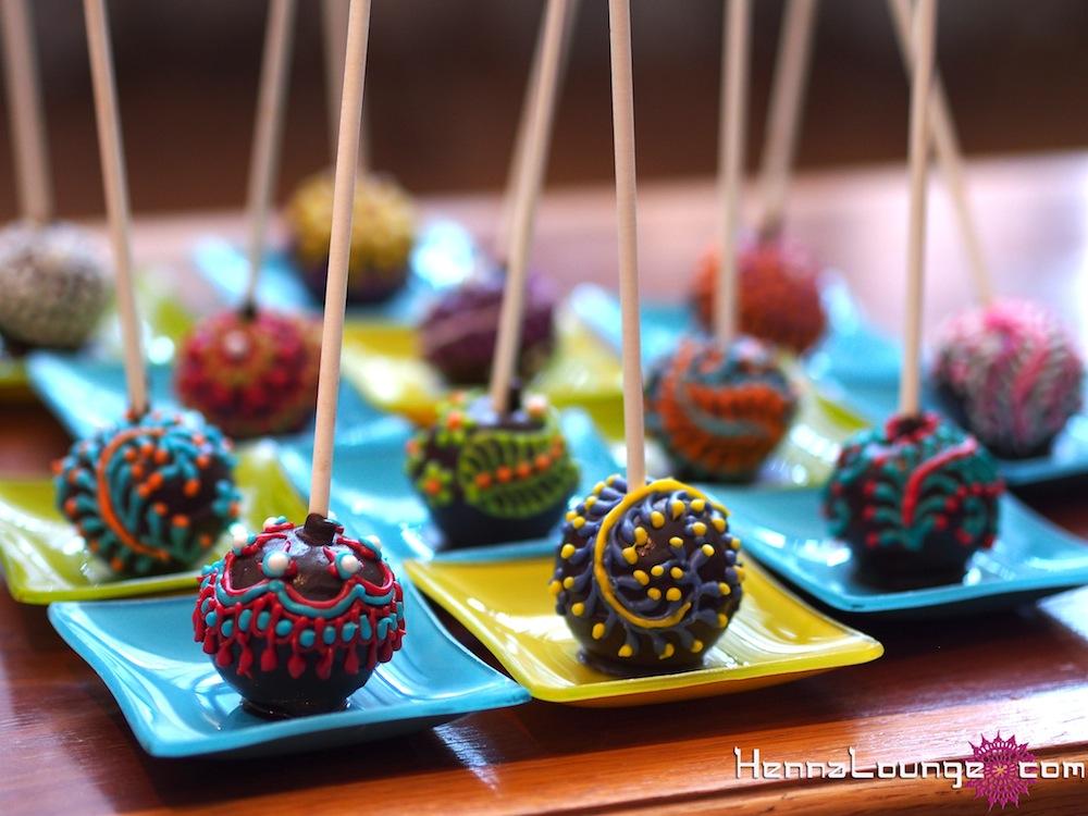 Mehndi Cake Qc : Henna cake pops lounge