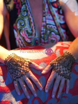 Henna cuffs for Burning Man attendee