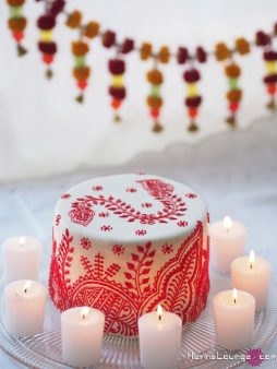 Moroccan inspired henna cake
