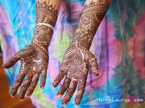 Indian style mehndi