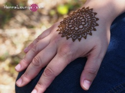 A mandala of henna is said to bring good luck