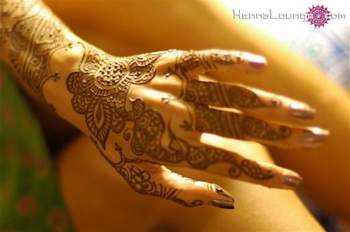Elegant hand with henna