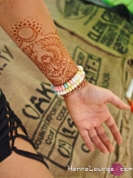 A scarab henna for Burning Man