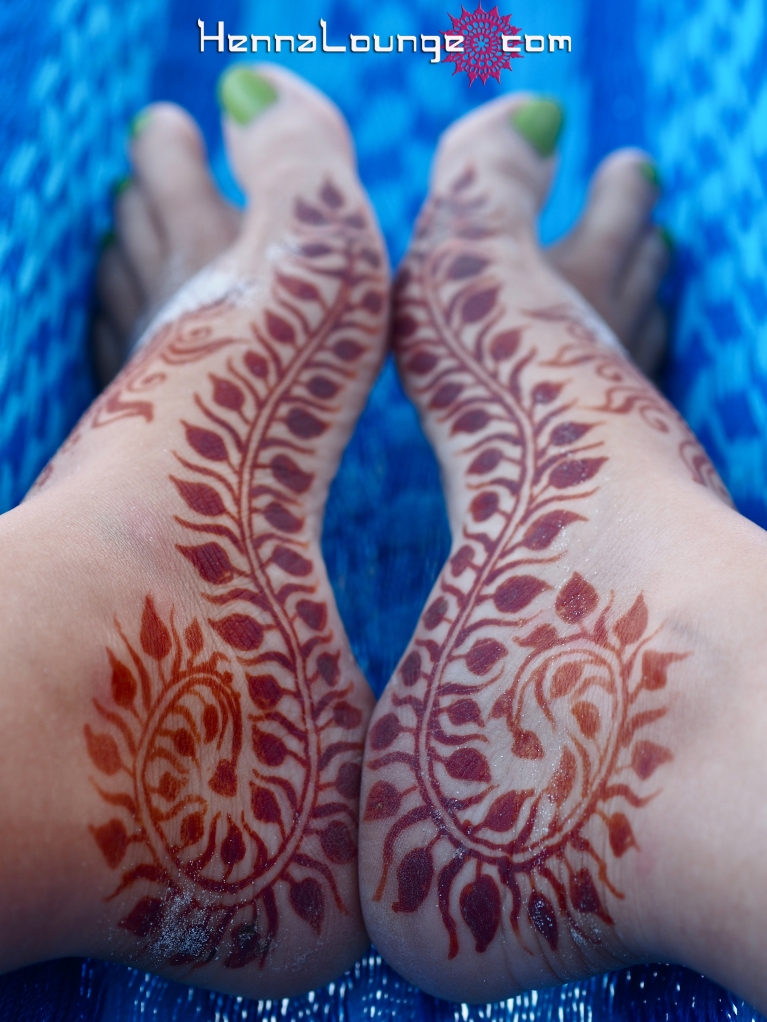 Mehndi feet near Playa del Carmen