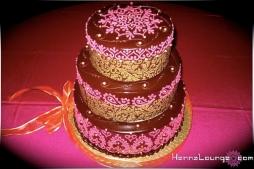 Indian pink henna cake