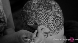 "Darcy completing the henna for the film ""Blank Canvas"""